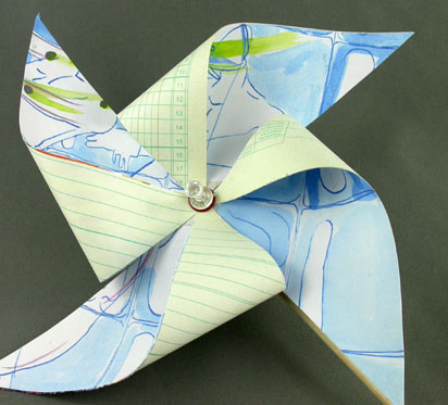 children craft projects - pinwheel