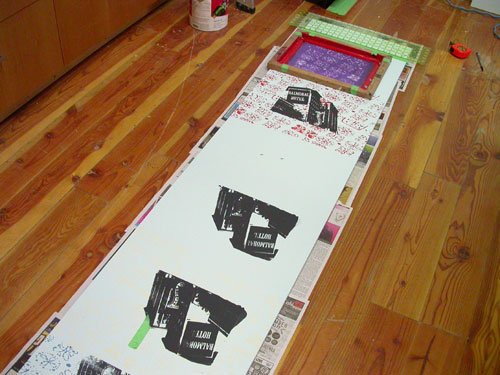screenprinting the wall