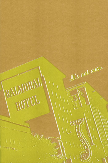 Balmoral Hotel - screenprinted journal