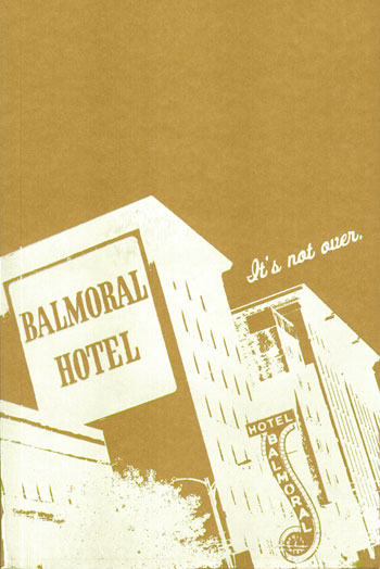 Balmoral Hotel -screenprinted journal