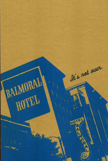 Balmoral Hotel, Vancouver  - screenprinted journal