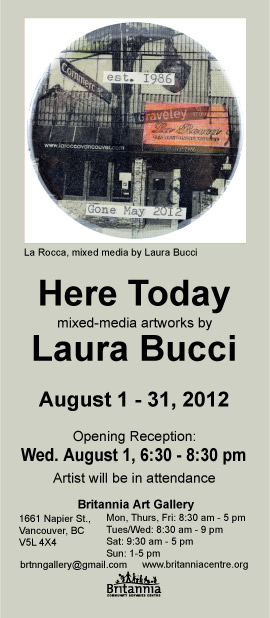 E-invite-Laura Bucci at Britannia Art Gallery