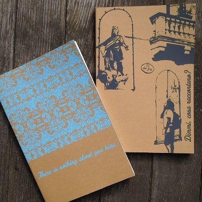screenprinted journals